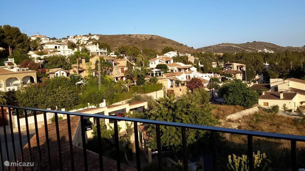 Uitzicht vanaf het terras richting Javea.