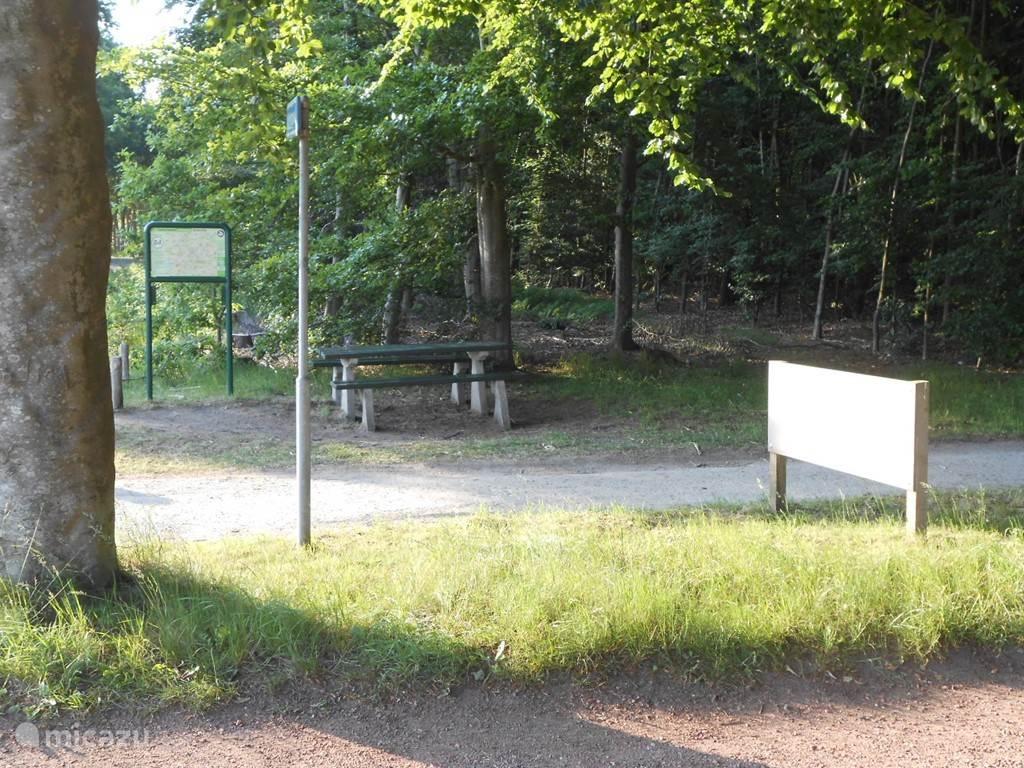 Fietsknooppunt en begin 'Woldenpad' langs de Koekangerveldweg