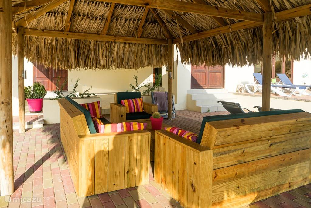 lounge set under the palapa