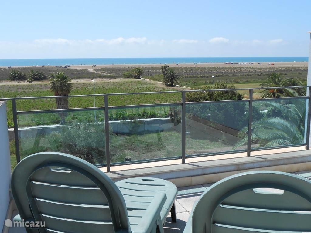 Vakantiehuis Spanje, Costa Dorada, L'Eucaliptus Appartement Zeezicht met zwembad Sol Naciente