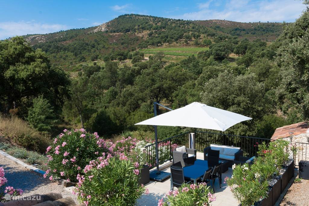 Terrace with stunning views of the nature reserve