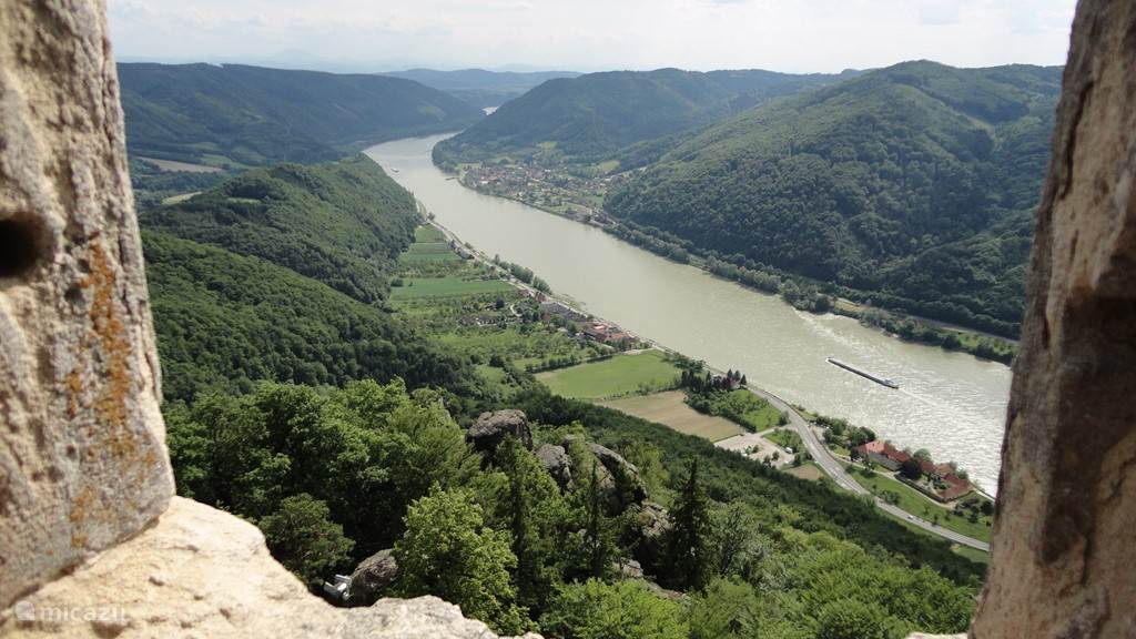 Danube Wachau with vineyards, castles and medieval villages