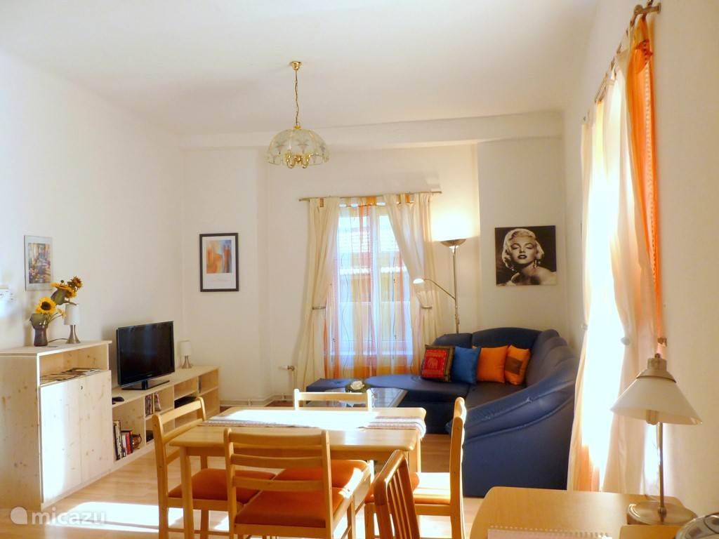 cosy living room en keuken