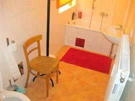 Badkamer  met uitzicht op Binnenhof
