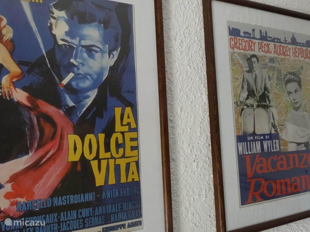Alles in het huisje ademt een Italiaanse sfeer