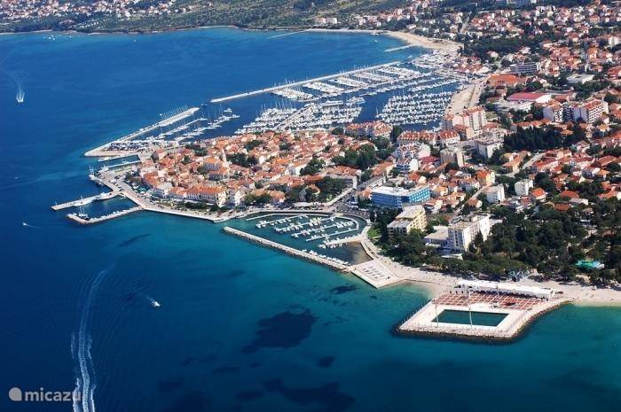 Helicopter view of beautiful Biograd