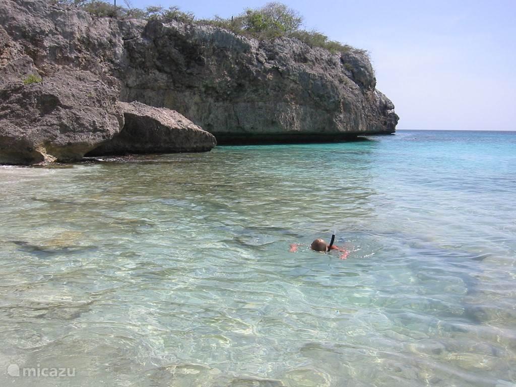 Het strand van Cas Abao. Door velen beschouwd als mooiste strand van Curacao !
