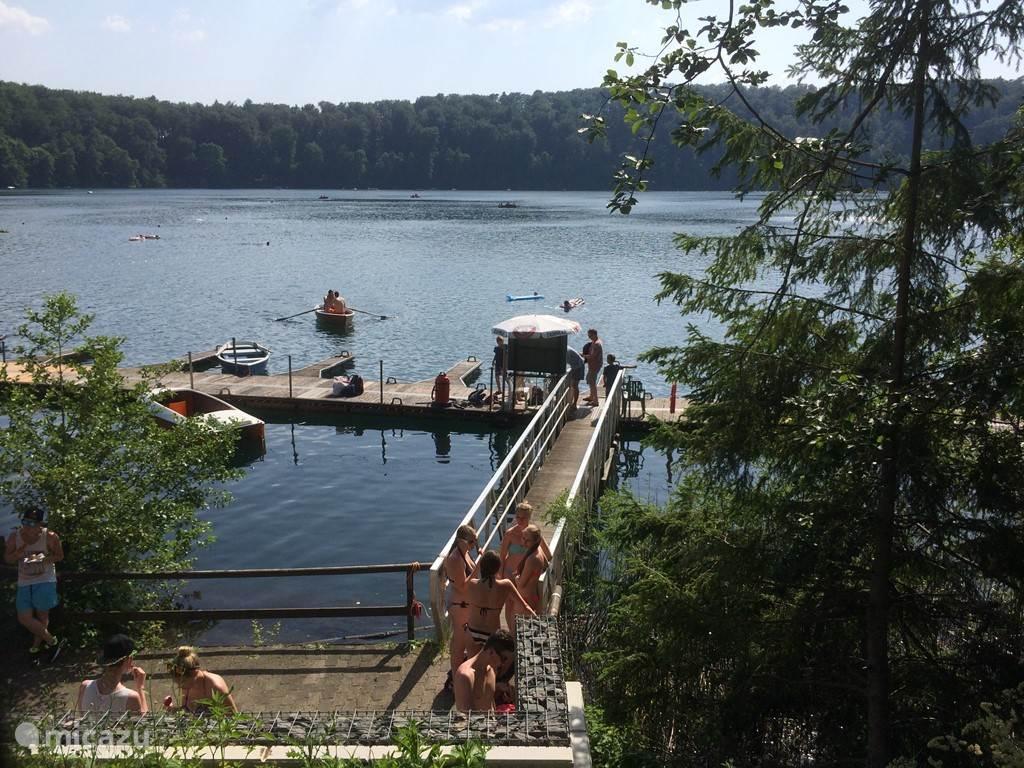 Swimming in natural lakes