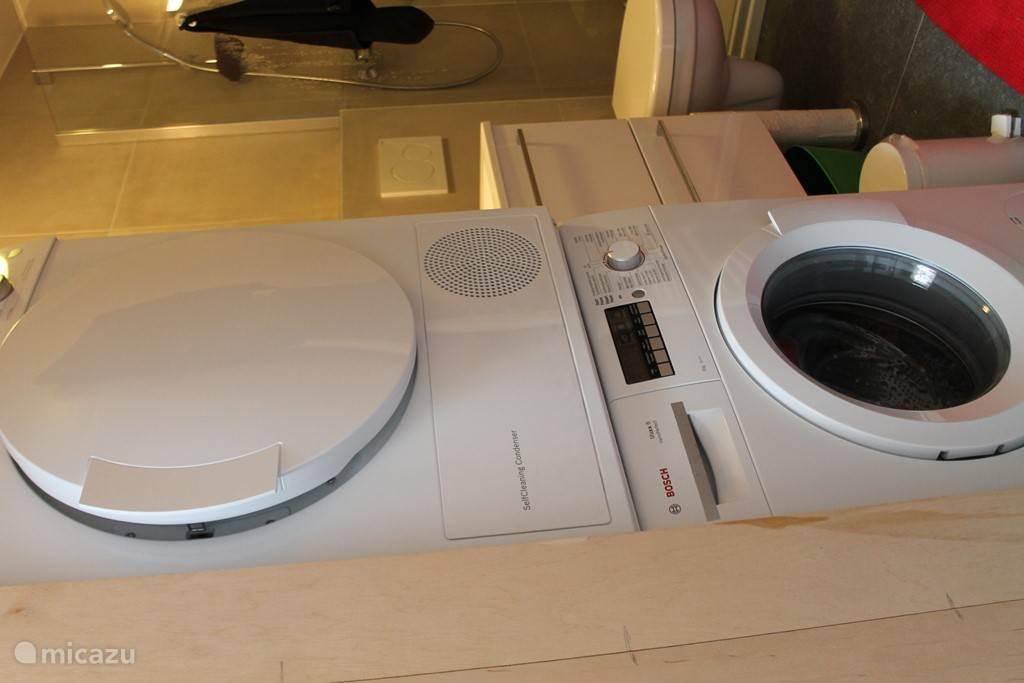 Droogkast met wasmachine