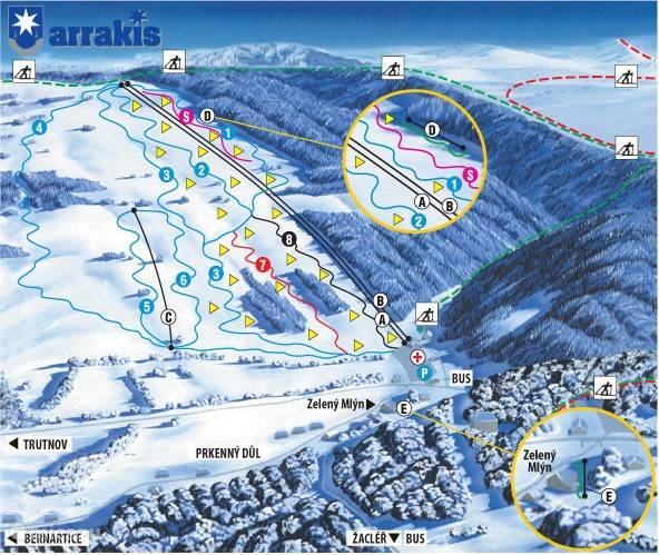 Skigebied Arrakis - groepsaccommodatie Reuzengebergte