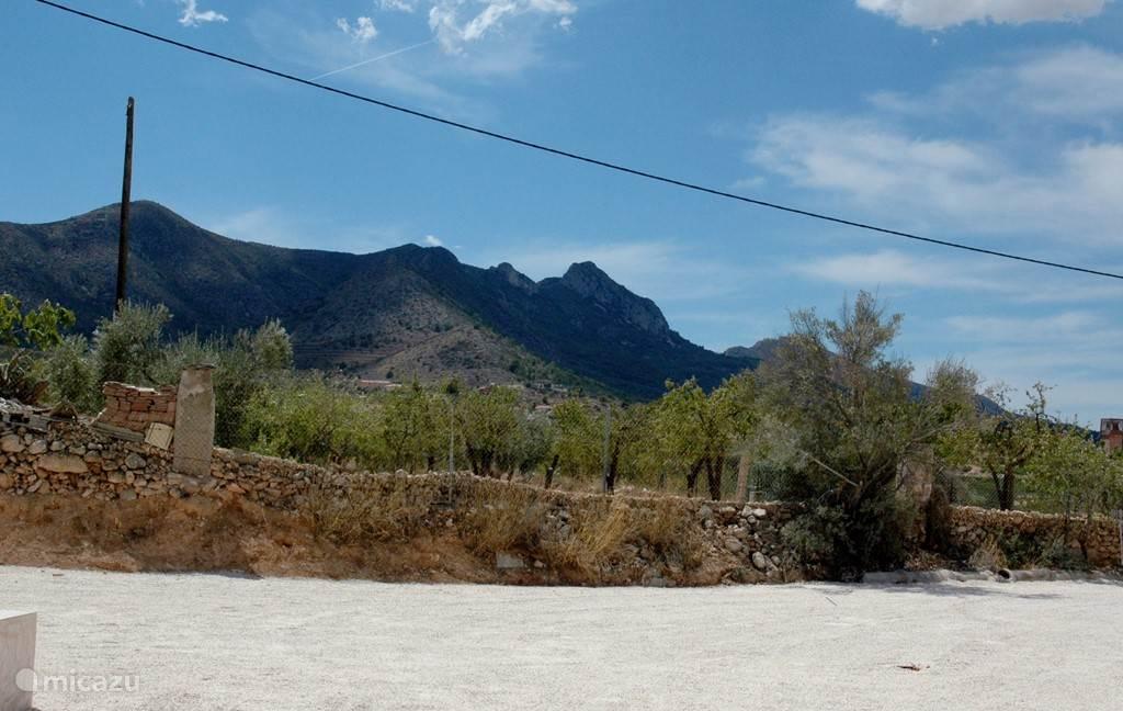 Het uitzicht vanaf het terras van de Casita