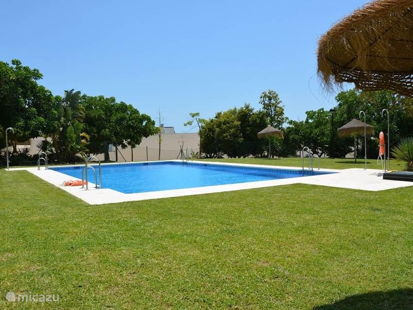 zwembad met zonne weide. De urbanisatie heeft nog 3 zwembaden waar u gebruik van kunt maken, deze is de dichtstbijzijnde en ligt direct onder het balkon.
