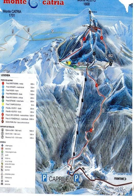 Mountain Bike en Ski gebied