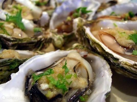 Altijd verse oesters, zalig!