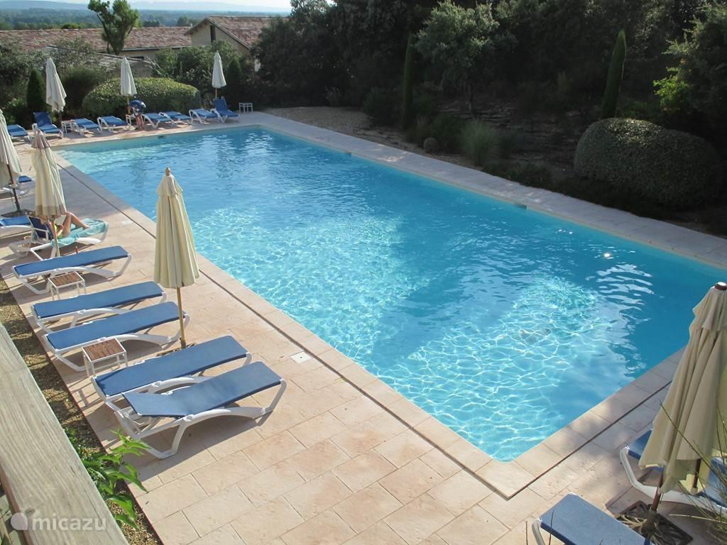Gemeenschappelijk zwembad van 20 bij 9 meter.