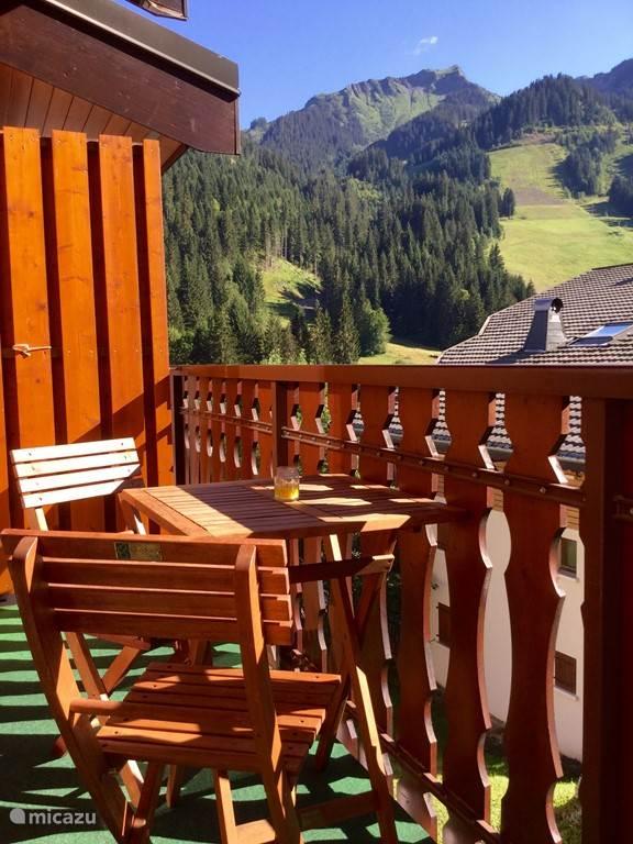 Balkon in de zomer