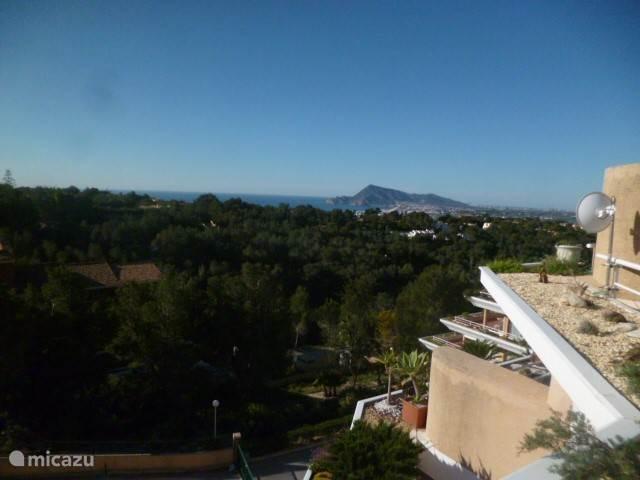 Panoramisch zicht vanop het terras