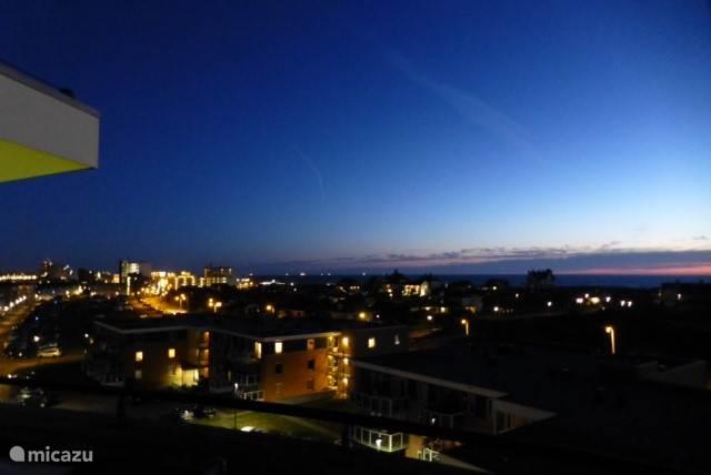 Noordwijk aan Zee in de avond.