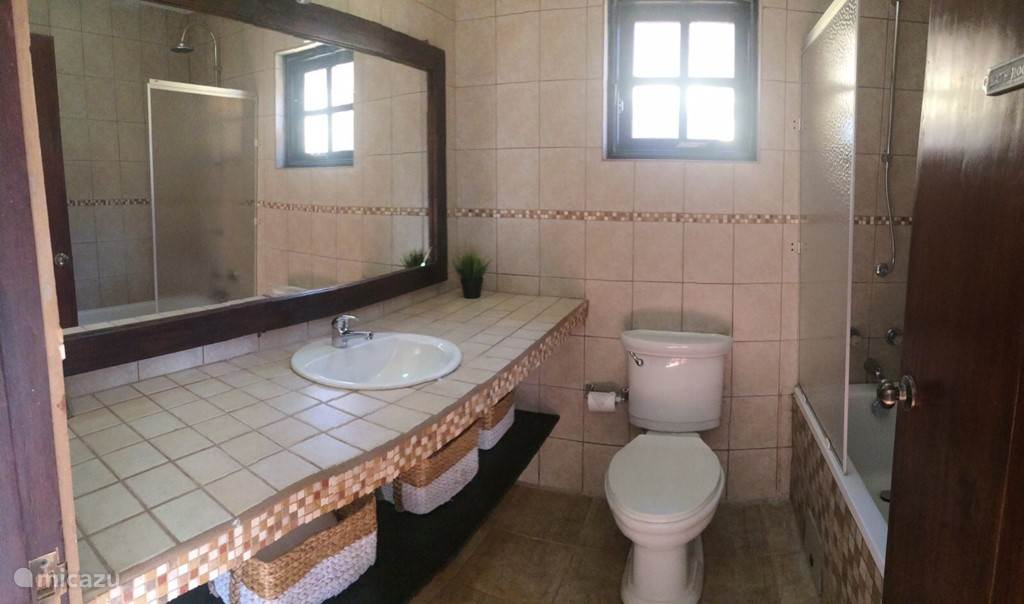 Master-bathroom with bath and shower