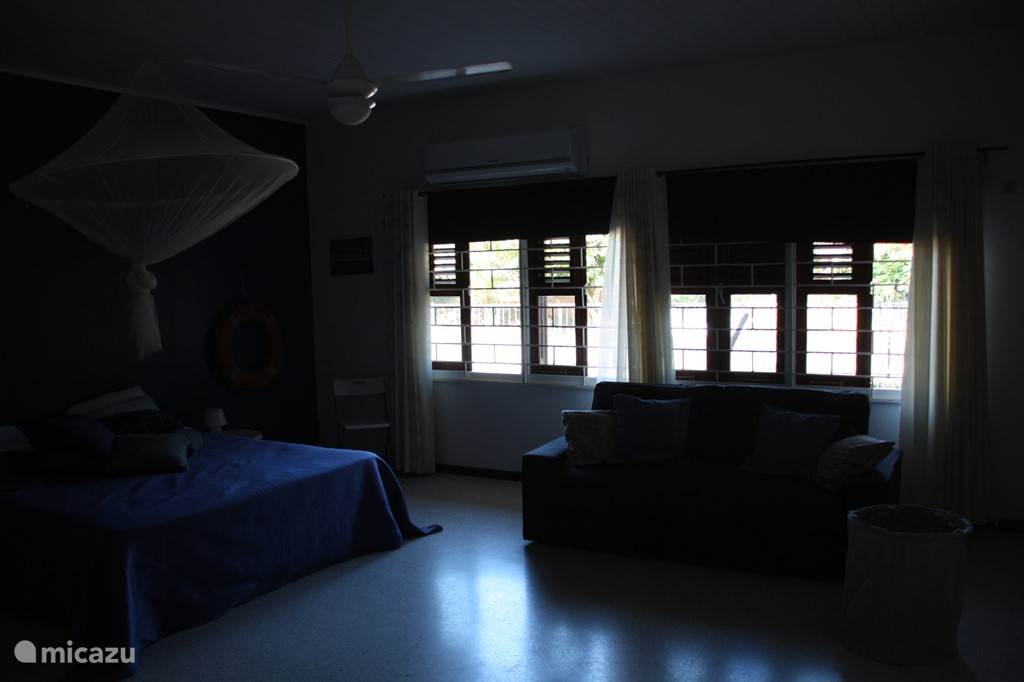 Photo unfortunately a little dark ... Spacious master bedroom of 45m2 with new shutters