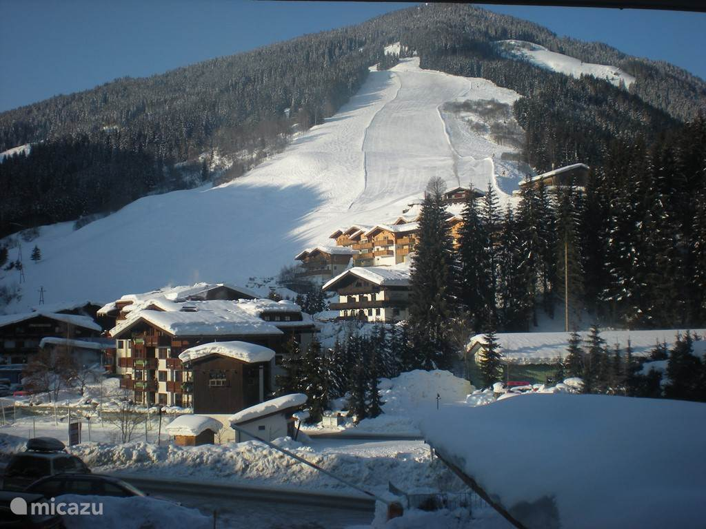 From the living room overlooking the beautiful slopes which has Saalbach-Hinterglemm-Leogang Fieberbrunn.