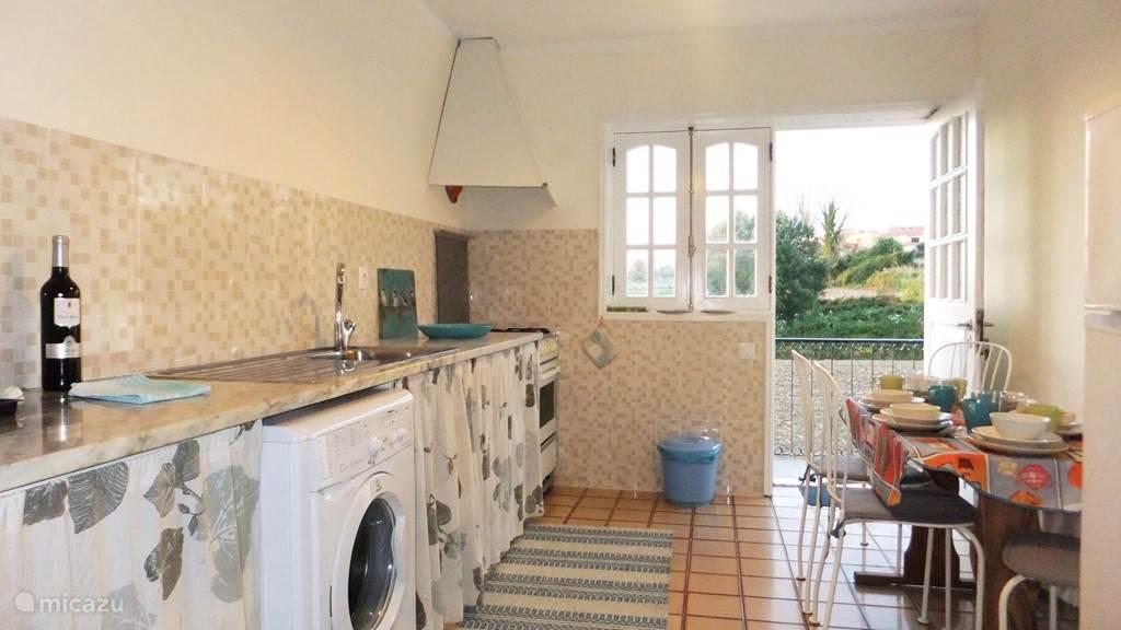 keuken met open uitzicht