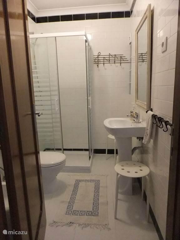 eerste badkamer naast de suite