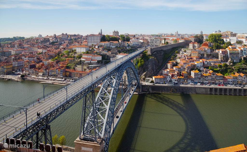 Het appartement is 10km van Porto