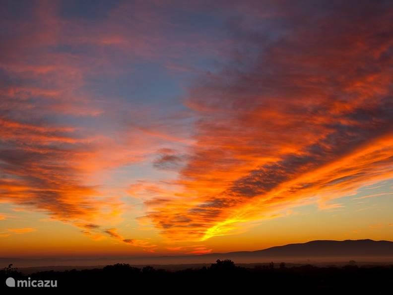 Zonsondergang bij Finca el Rabilargo