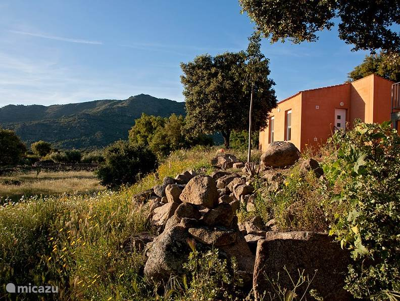 Finca el Rabilargo ligt aan de voet van de Sierra de Montánchez