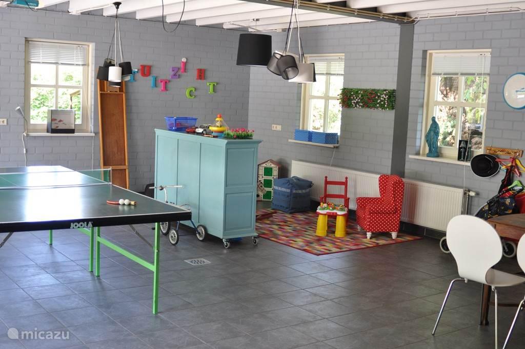 Inpandige Speelkamer in apart gedeelte van de woning. Veel plaats voor de kinderen en toch lekker rustig in huis