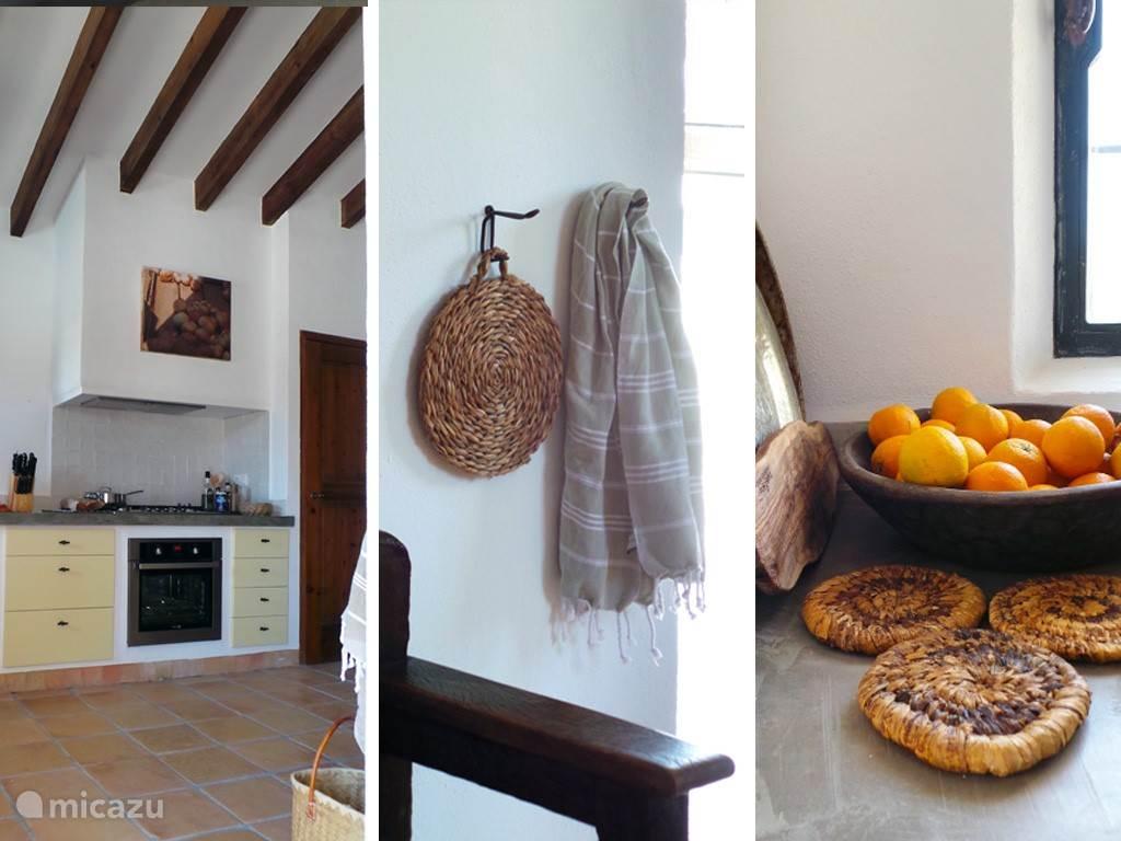 Details van de complete keuken.