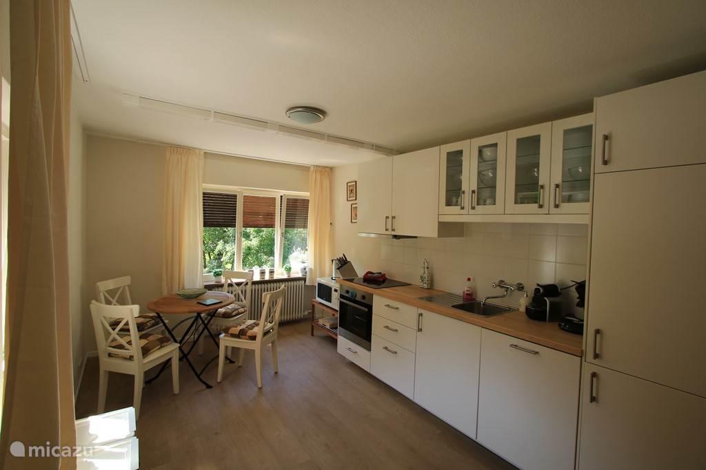 De nieuwe keuken met oven, magnetron etc