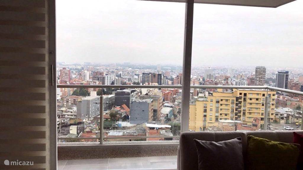 view from the living room over bogota