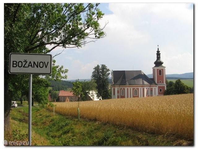 Begin van dorpje