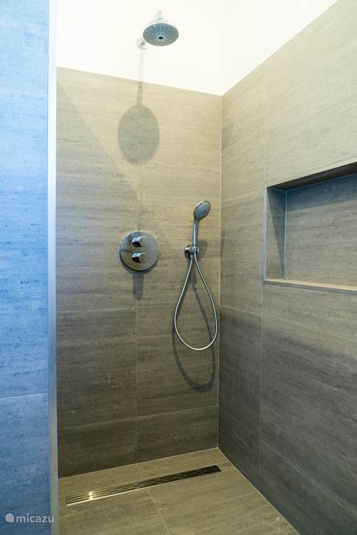 Four modern bathrooms with walk-in shower