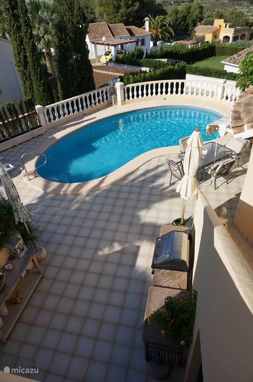 zwembad vanaf boven