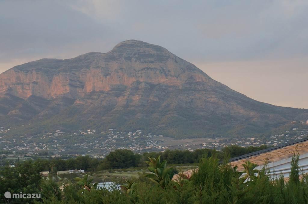 Uitzicht op de Montgo