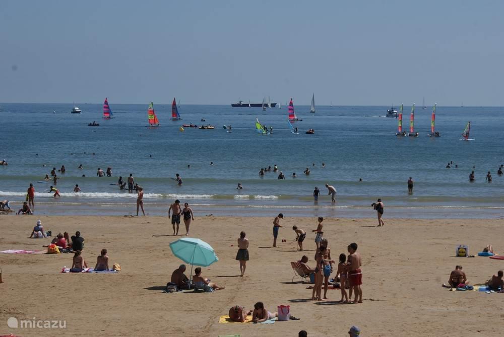 The large beach of Les Sables d'Olonne