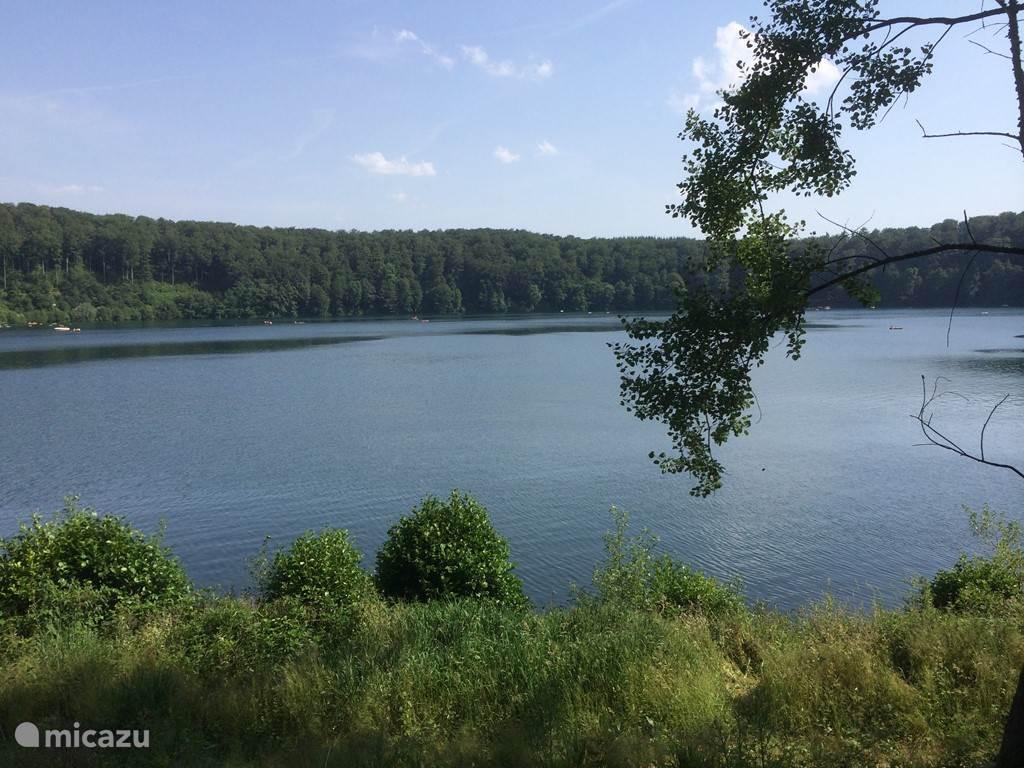 Volcanic lake in Schalkenmehren