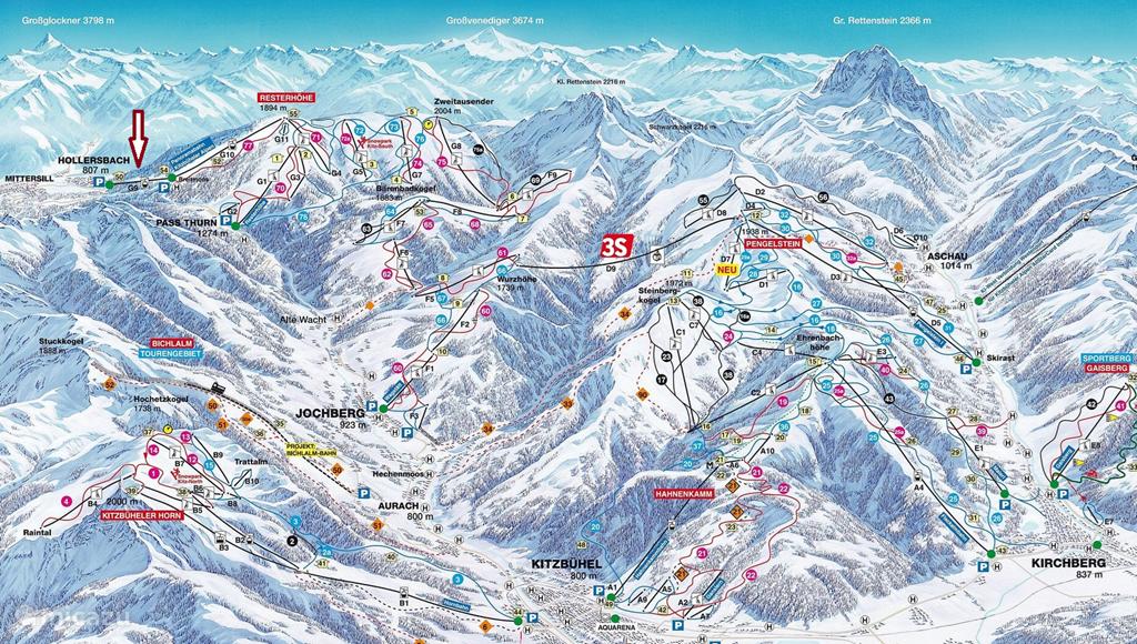 Skigebied Kitzbuheler Alpen