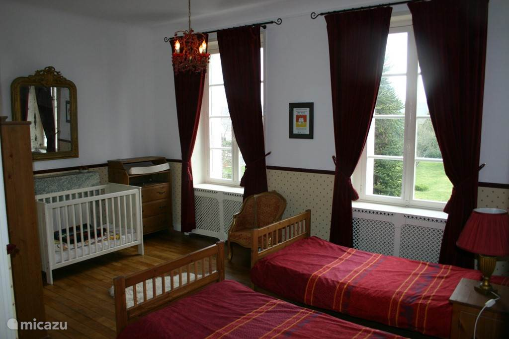 Nursery. There are two cots and a crib available
