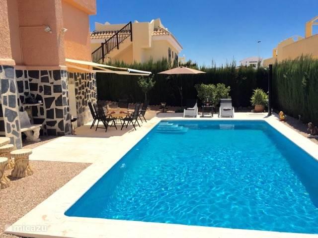Vakantiehuis Spanje, Costa Cálida, Mazarrón villa Villa verwarmd zwemb. Mazarron Spanj