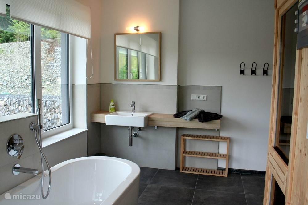 Badkamer 3 (beneden met sauna en toegang tot tuin)