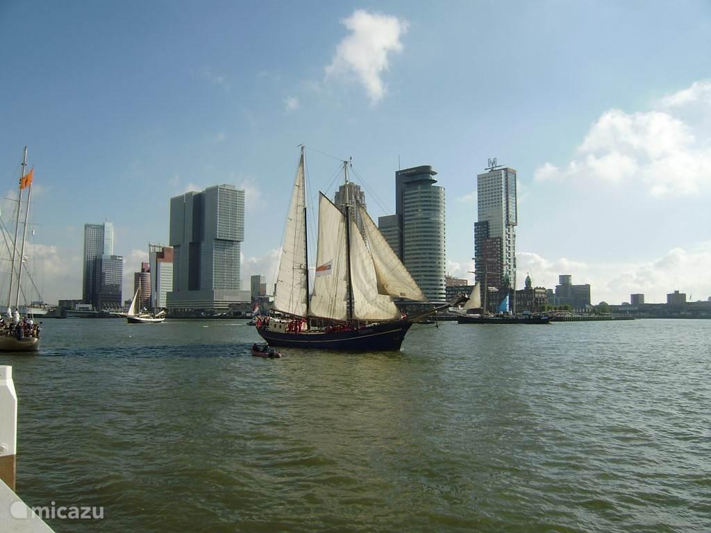 Het uitzicht vanuit de Veerhaven