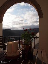 View vanaf het terras.