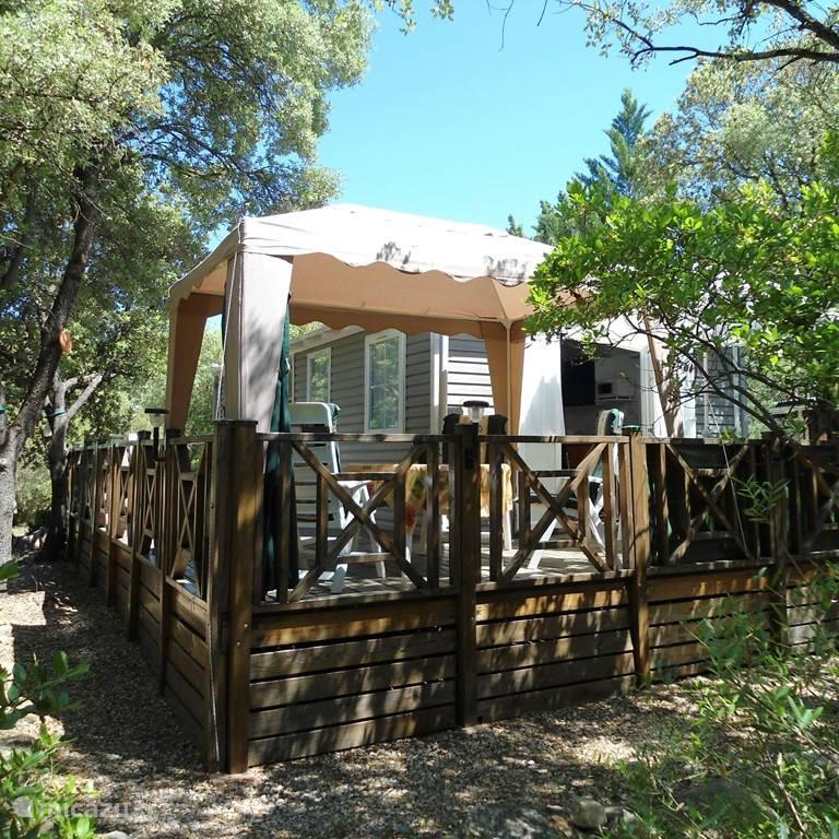 Vakantiehuis Frankrijk, Languedoc-Roussillon, Vacquieres - chalet Mobilehome 151