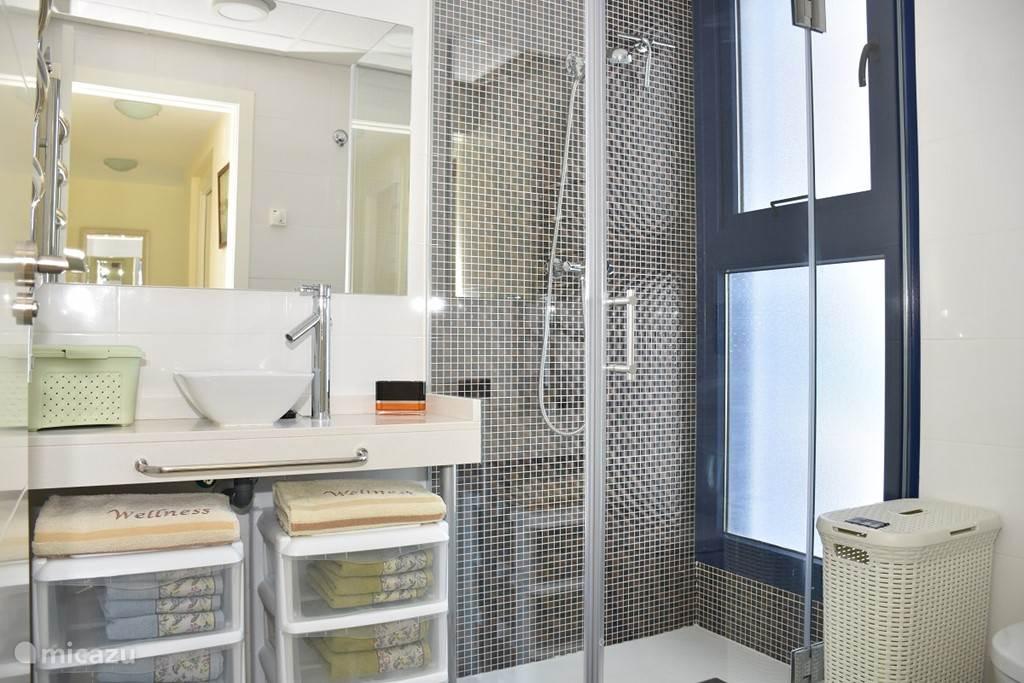 Badkamer 2, met inloopdouche.