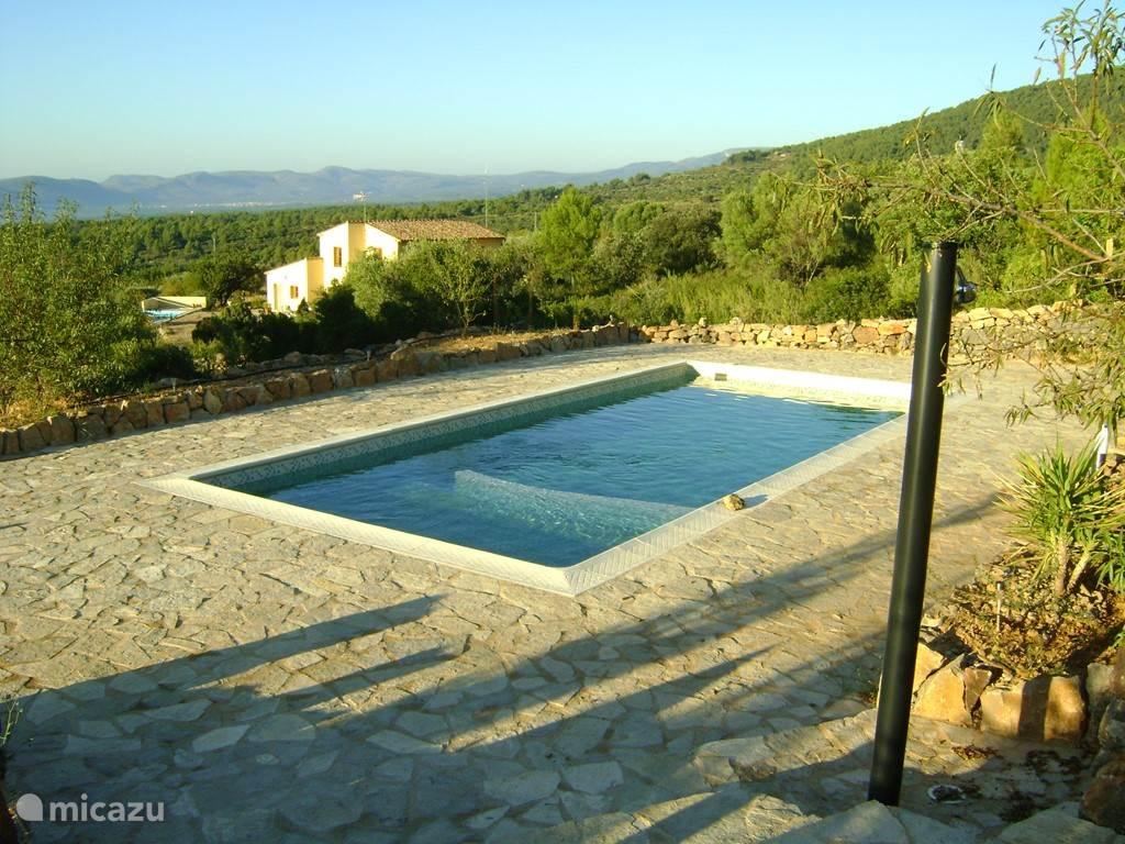 Ons 8 x 4 m zwembad is de parel van ons huis