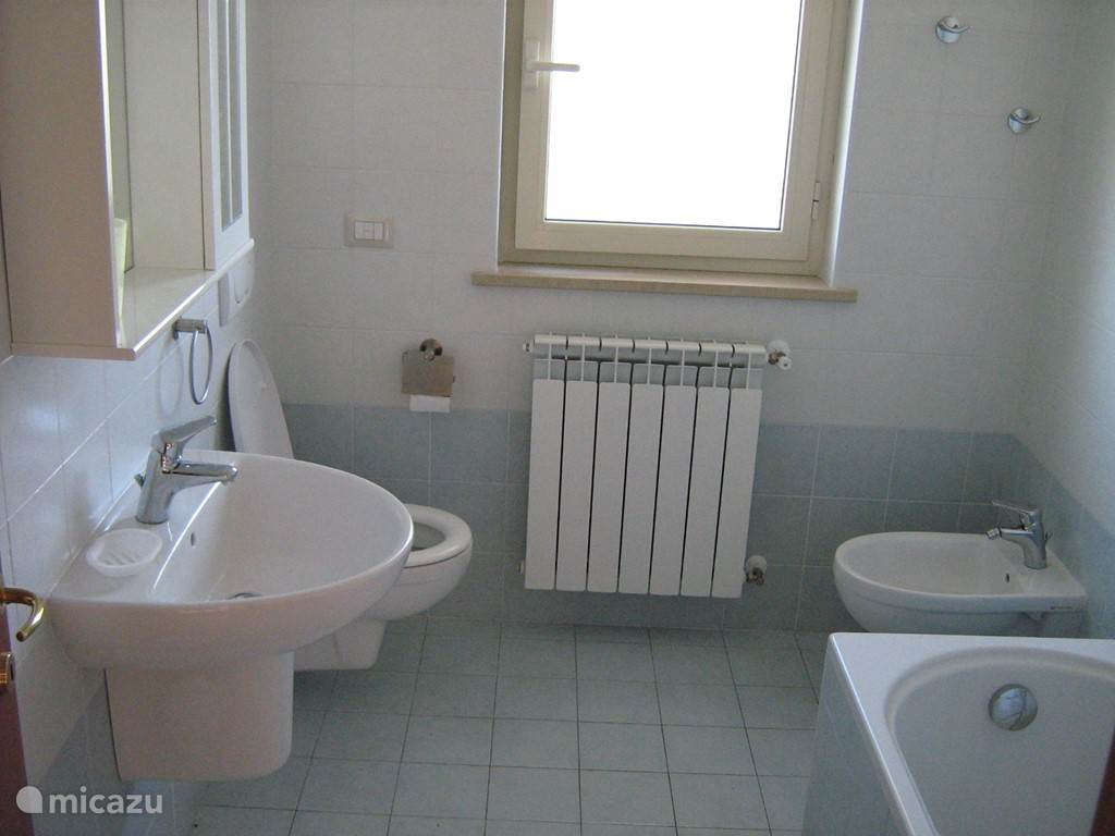 Large bathroom with toilet, bidet and bath